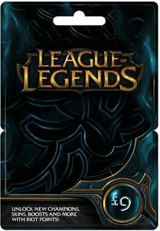 GBP9 League of Legends Gift Card (EUW / EUNE)