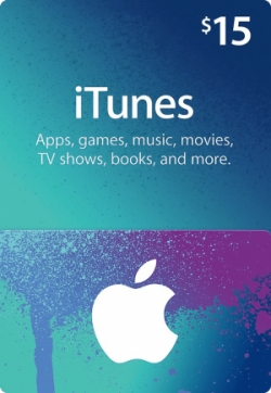 USD15 iTunes Gift Card (US)