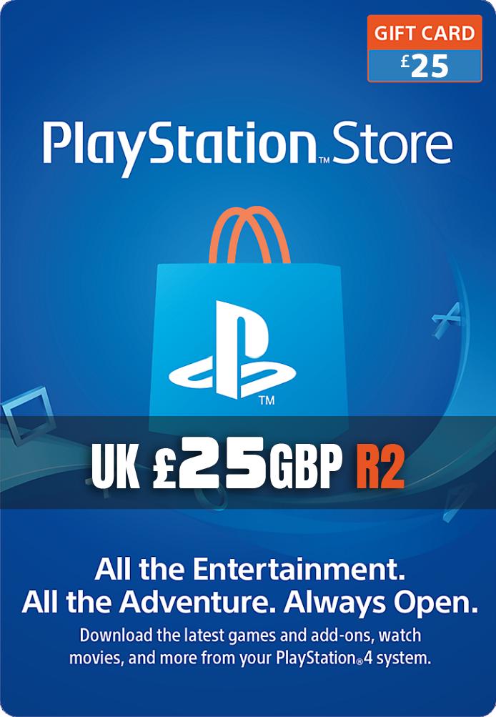GBP25 PlayStation Network Card (UK)